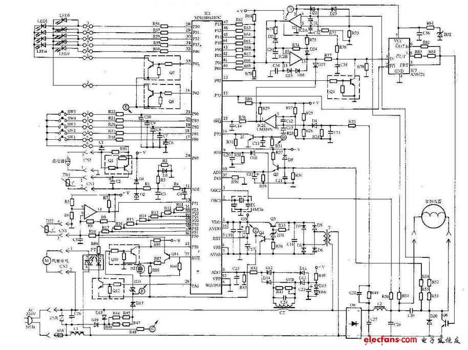 美的,格兰士,富士宝三大品牌电磁炉电路图图片