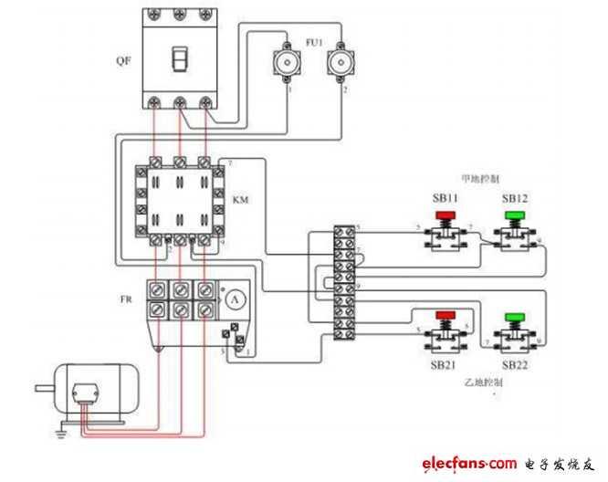 常见继电器常用自锁电路图大全