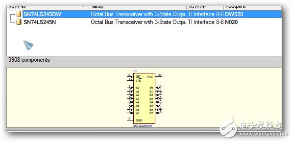 双向三态数据缓冲器型号末尾的DW与N的区别