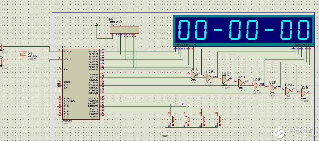 用数码管做的电子表
