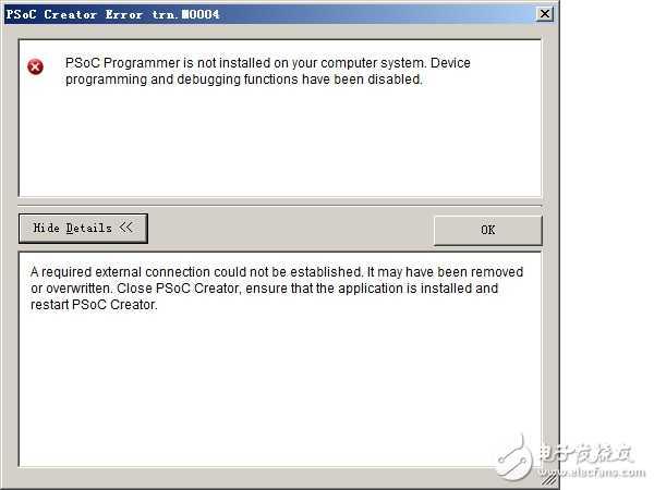 新人求助?。?! PSoC Programmer is not installed on your computer system.