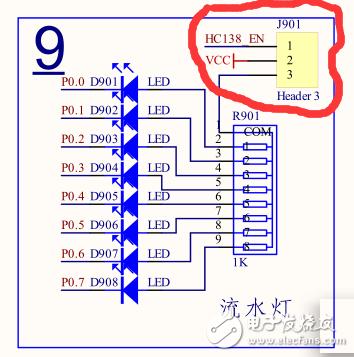 在ELC V2开发板中,如何控制流水灯中三极管的导通 单片机 MCU论坛