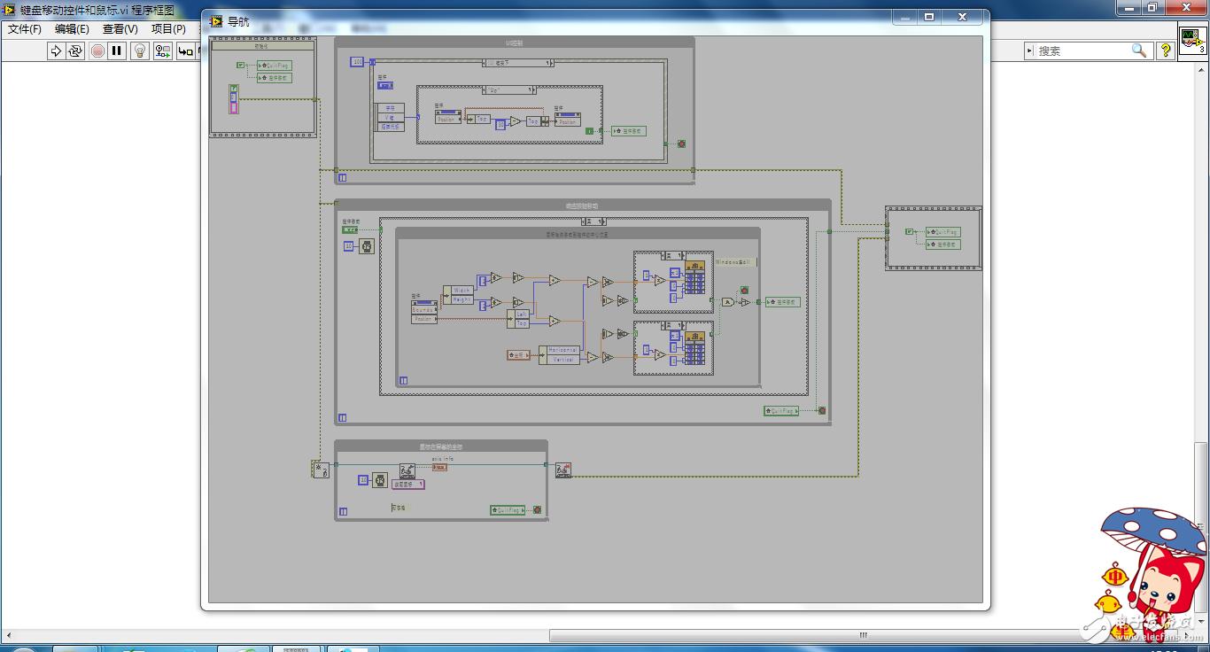 键盘操作控制控件移动,并控制鼠标移动到控件中心
