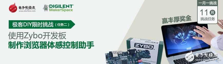极客DIY限时挑战 — 12月挑战任务二:浏览器手势控制助手(基于Zybo)