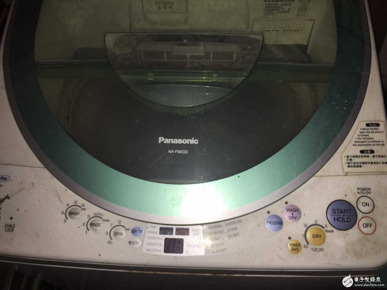 哪位大师有Panasonic NA-F80GD洗衣机的中文说明书?求分享!