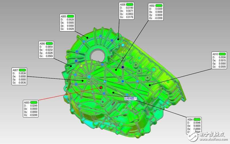 【转】三维扫描仪对变速箱壳体质量检测,让每辆汽车安全上路!