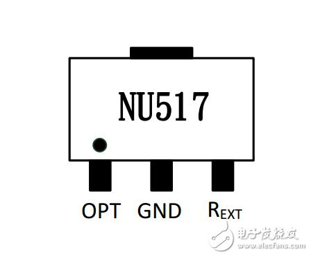 NU517 60MA单通道定电流LED驱动IC 高压线性PWM调光恒流驱动IC