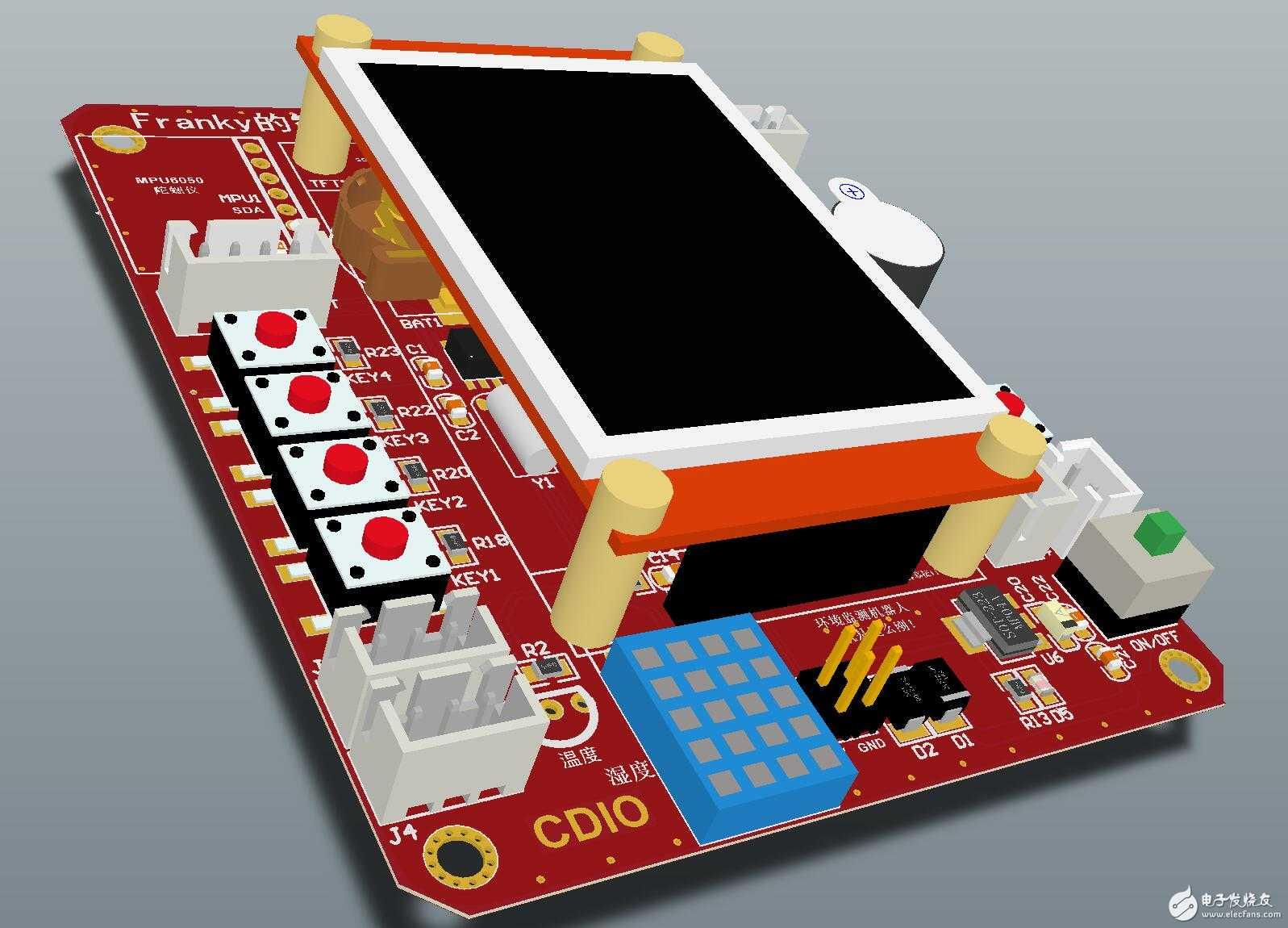 PCB空板免费送——基于STM32的环境信息监测小车
