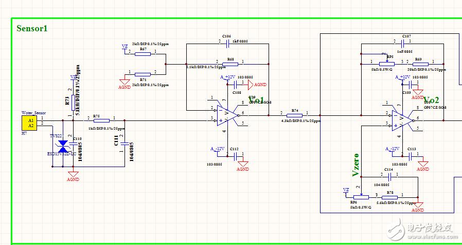 那位大侠帮忙分析一下,这个测温放大电路。