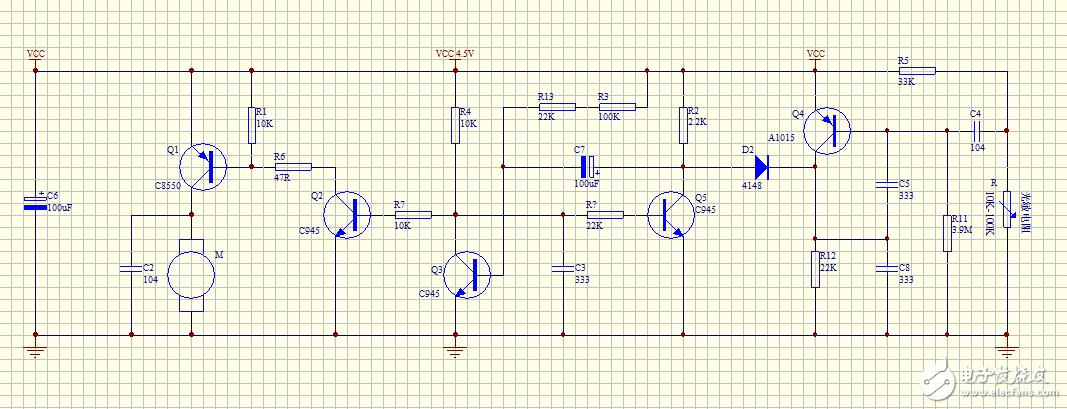 这是个光敏控制电机的电路,求工作原理。