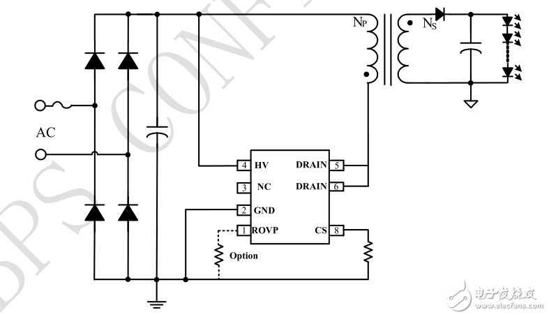 BP3166B省VCC電容隔離全壓7W方案