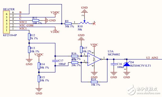一种基于NTC的控温电路及App实现