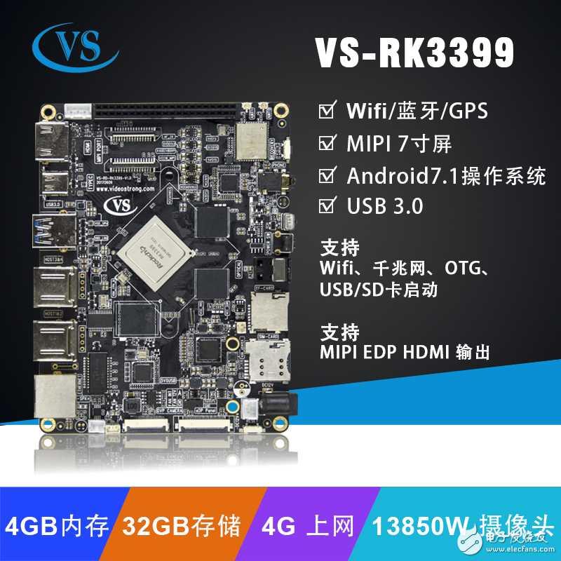 双系统怎么实现呢,看VS-RK3399板卡支持android7.1+debian系统。