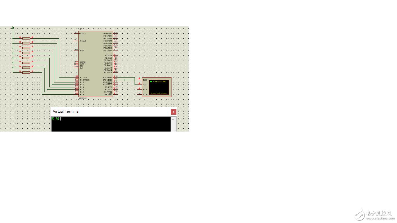求助:proteus8虚拟终端串口通信显示出错?