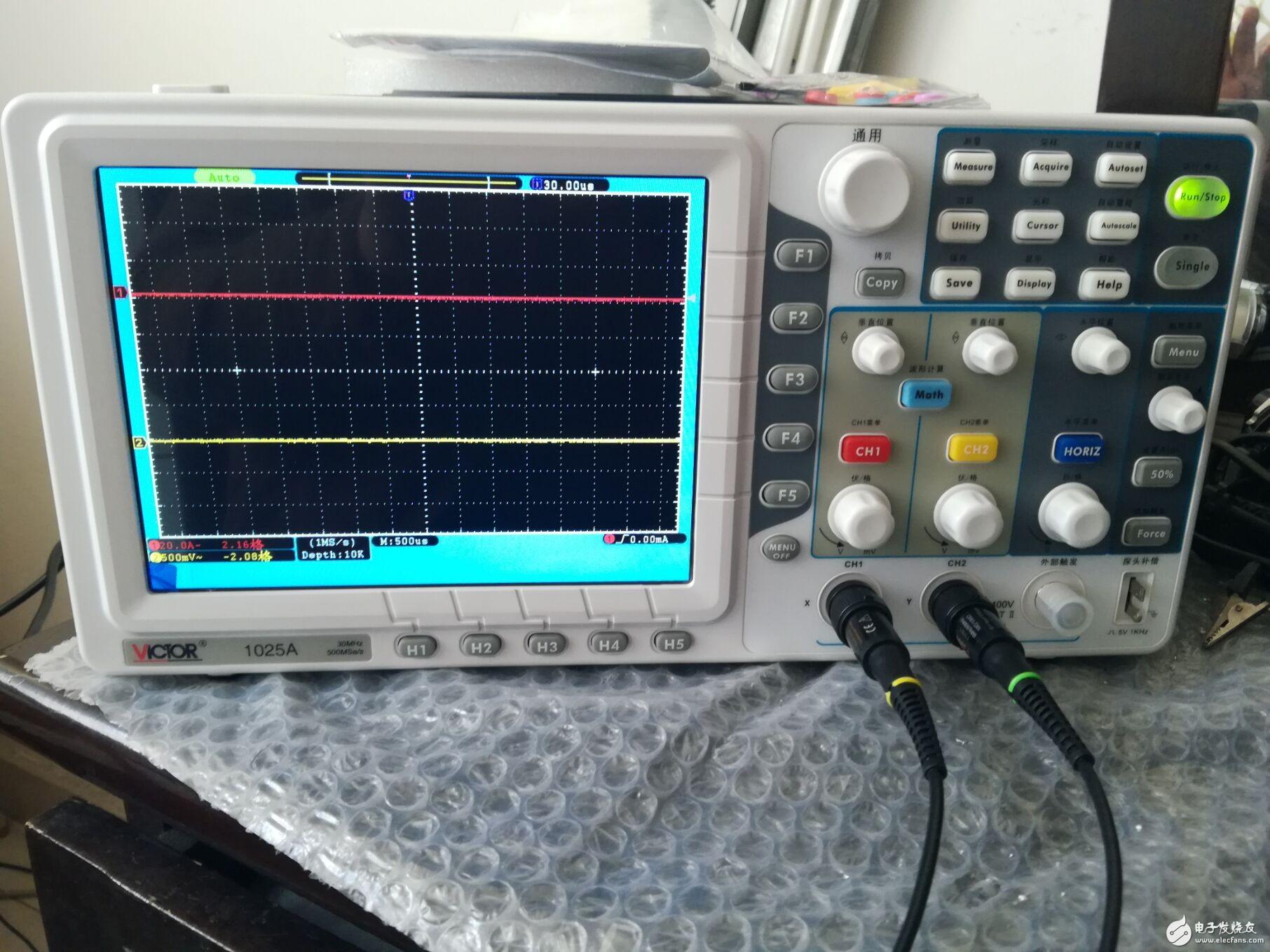 勝利儀器 數字存儲示波器VC1025A使用初體驗
