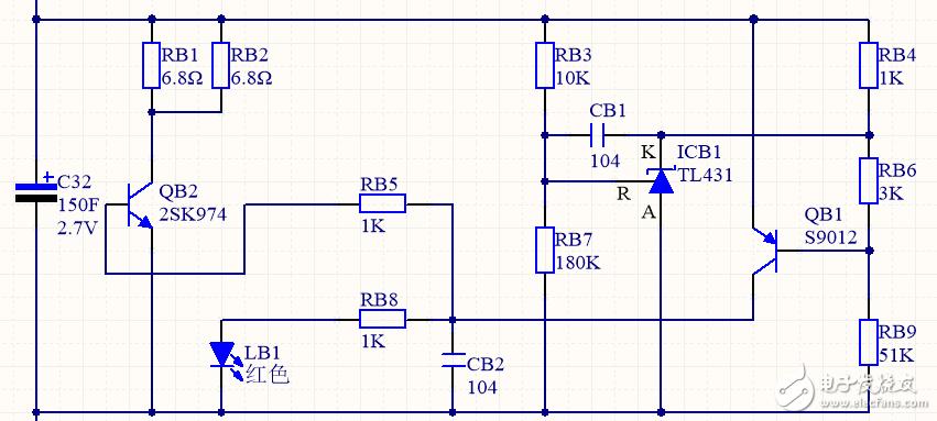 请问有超级电容均压电路?请帮忙分析下这个电路的工作原理?