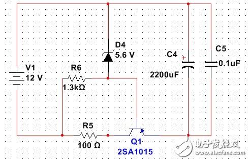 电路知识,请问电流走向及各原件端点电压,还有原件作用是什么?