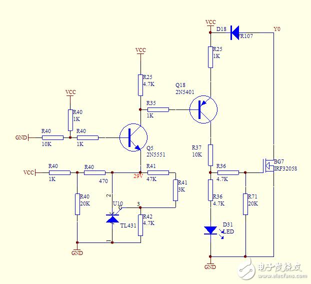 求助一个电池电压检测电路,电路电压输入DC33-42V,当电压低于33V时电路切断,实验未成功,请问哪里出了问题?
