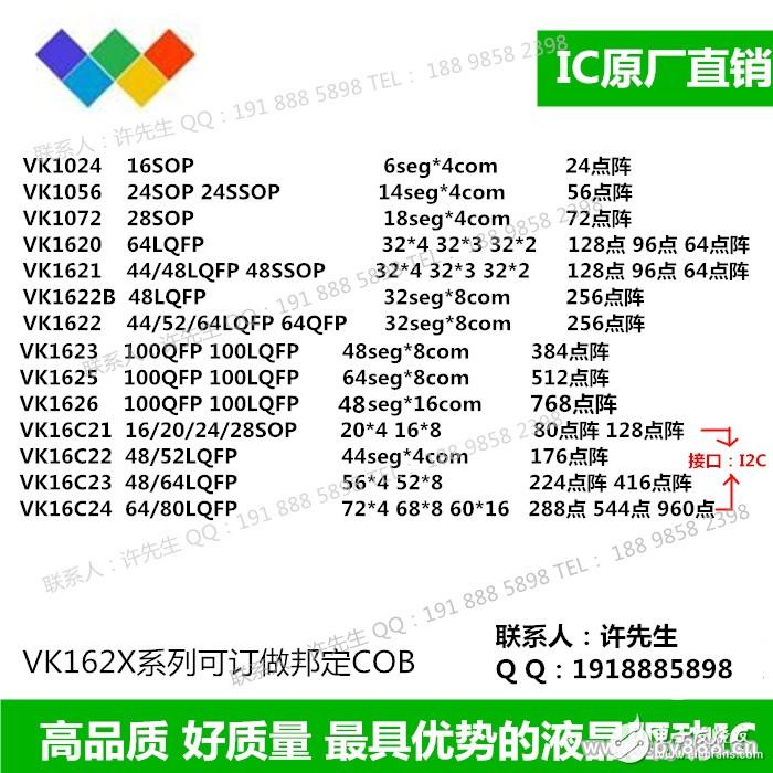 元泰液晶显示驱动IC芯片VK1623/VK1625/1626-QFP/LQFP100所有封装可完全兼容替代取代HT1623/HT1625/1626,附件为原厂开发方案资料