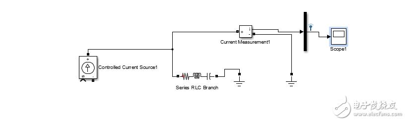 如下图所示,想实现电源经过阻抗产生的电流在示波器进行显示,但是连接电路不能用,请问这是为什么?如何解决?