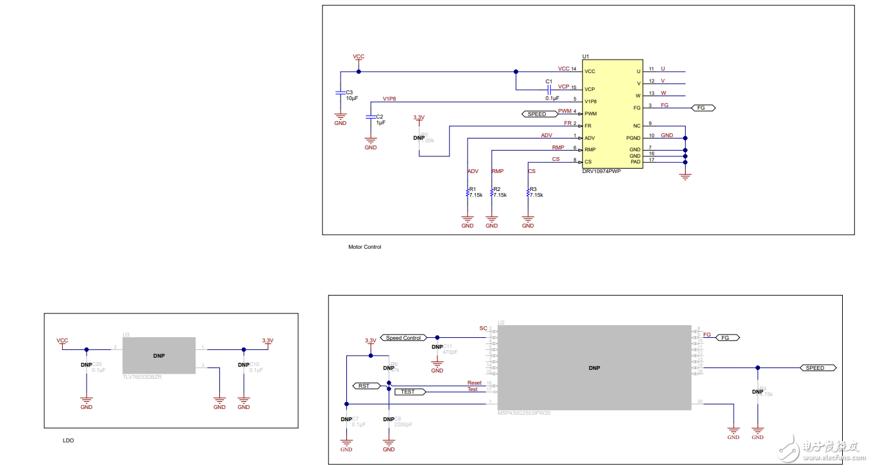 工作电压范围为 4.4V 至 18V 的系统提供三相无刷直流 (BLDC) 电机驱动器解决方案