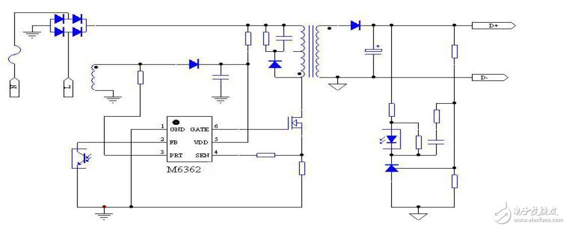 低能耗开放式开关电源管理芯片茂捷M6362A应用方案