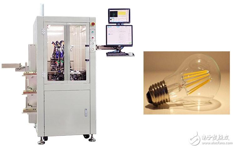 阿莱思斯全自动点胶机在LED灯丝灯的应用