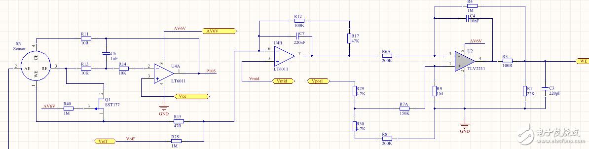 请教关于气体传感器采样变送电路问题