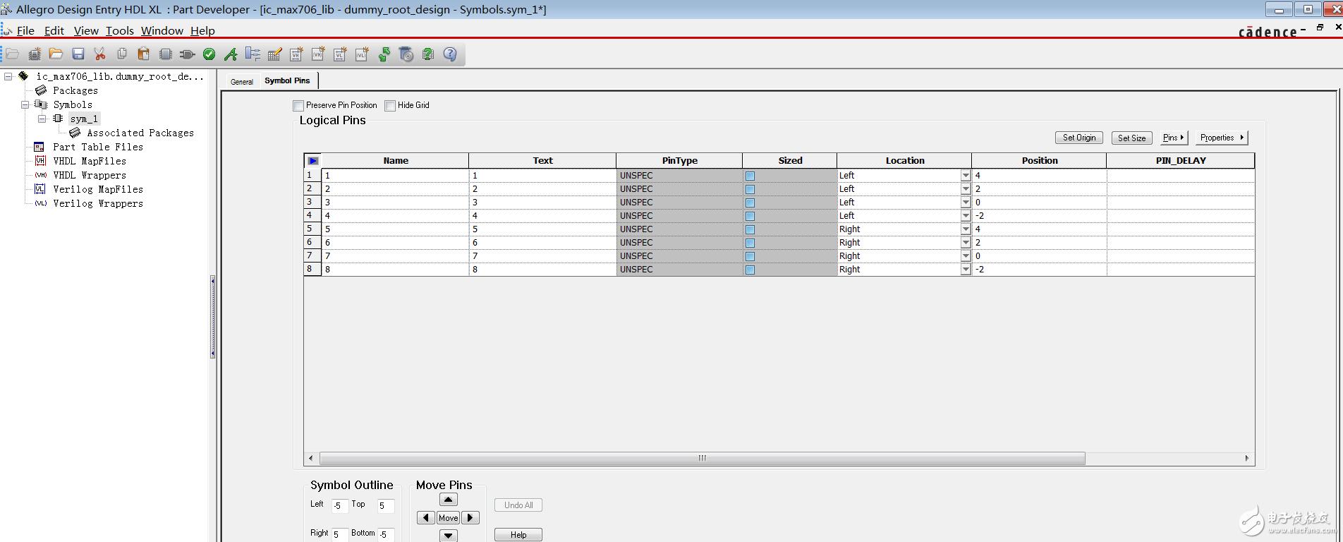 请问cadence HDL创建元件库时为什么没有元件封装预览?