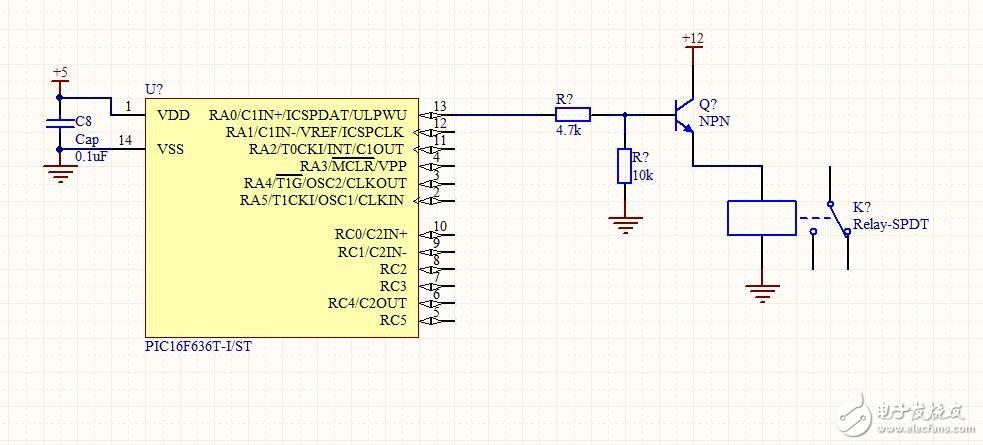 请问图中原理能实现NPN输出12V驱动继电器吗?