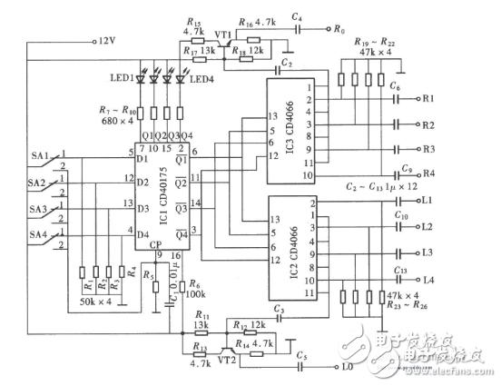 cd4066控制继电器电路图汇总(CMOS集成块/CD40157/触摸开关电路详解)