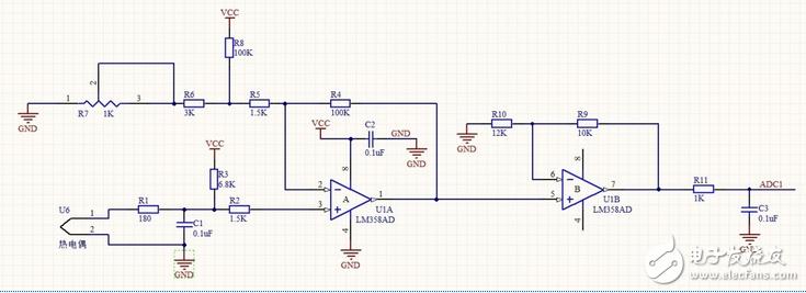 LM358放大电路有几处看不明白