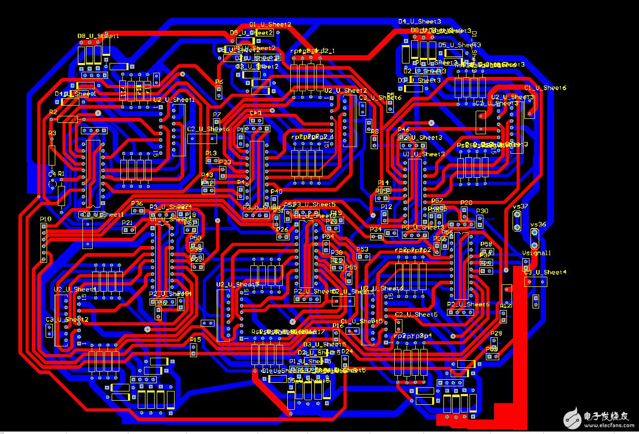 6组L297+L298驱动6个42步进电机这样设计pcb有什么问题吗?