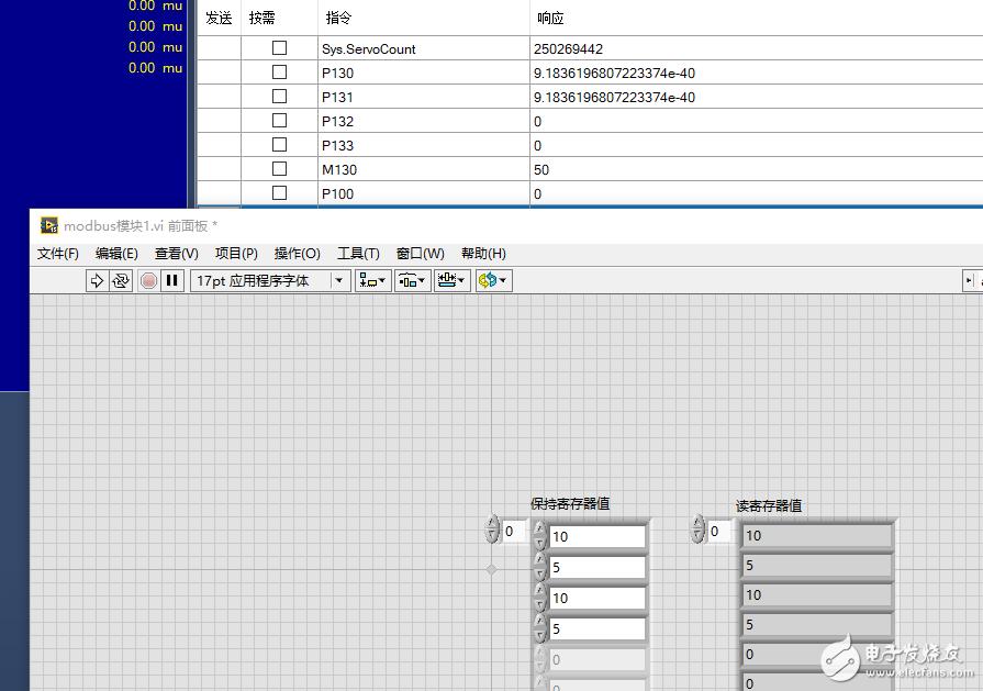 请问通过labview modbus-tcp给运动控制器写数据结果在控制器监控下写入的数据并不对