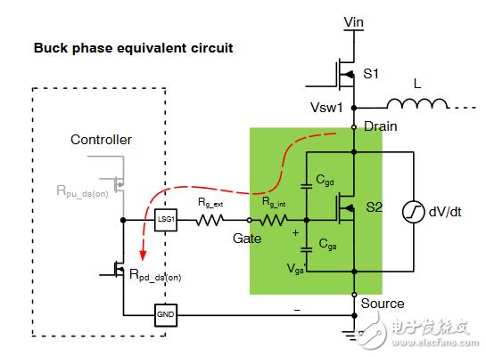 如何防止同步降压转换器中的低边误导通