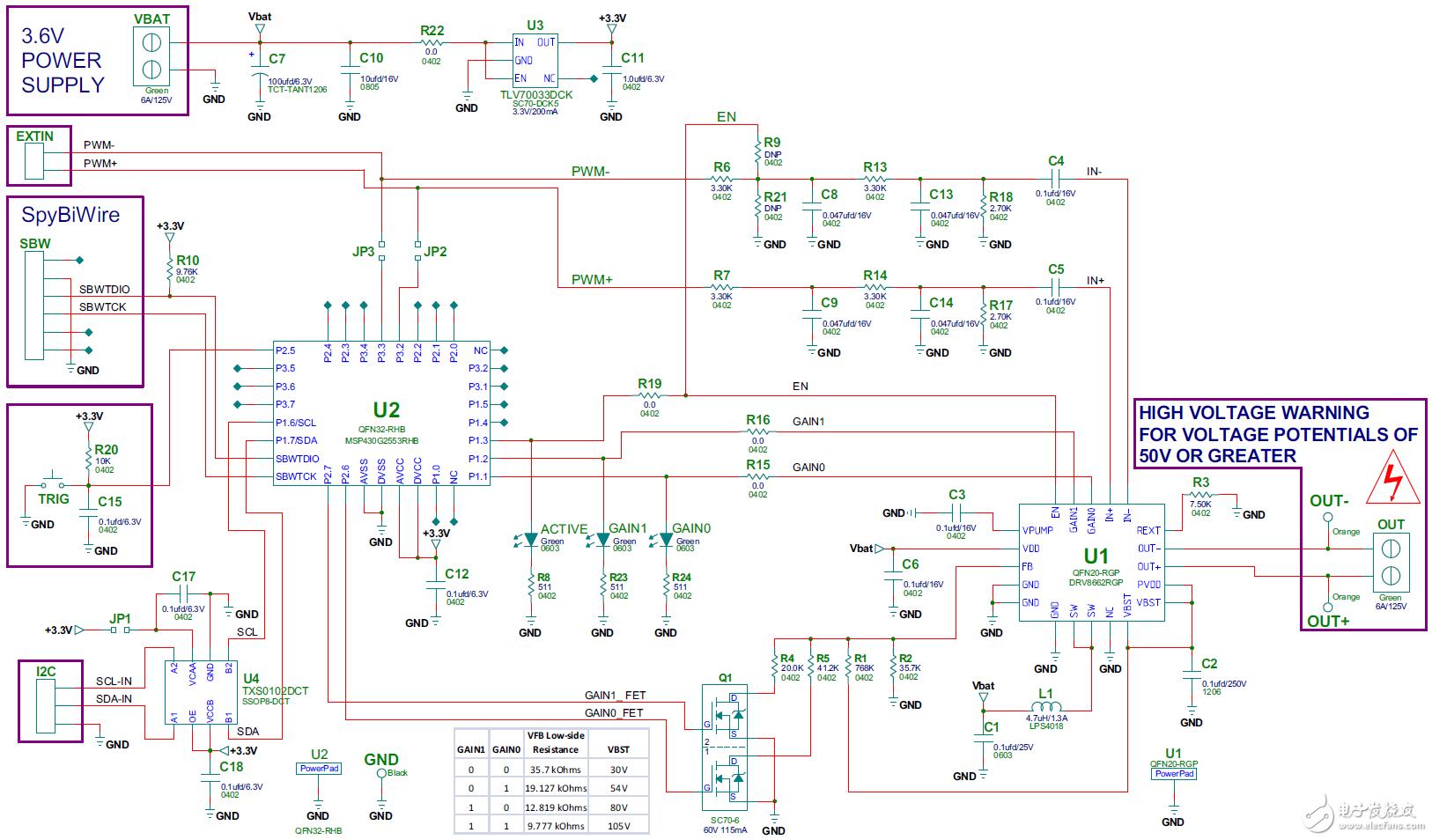 50~200V压电式触觉驱动器