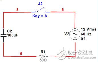 电容器隔开直流和通交流电路图