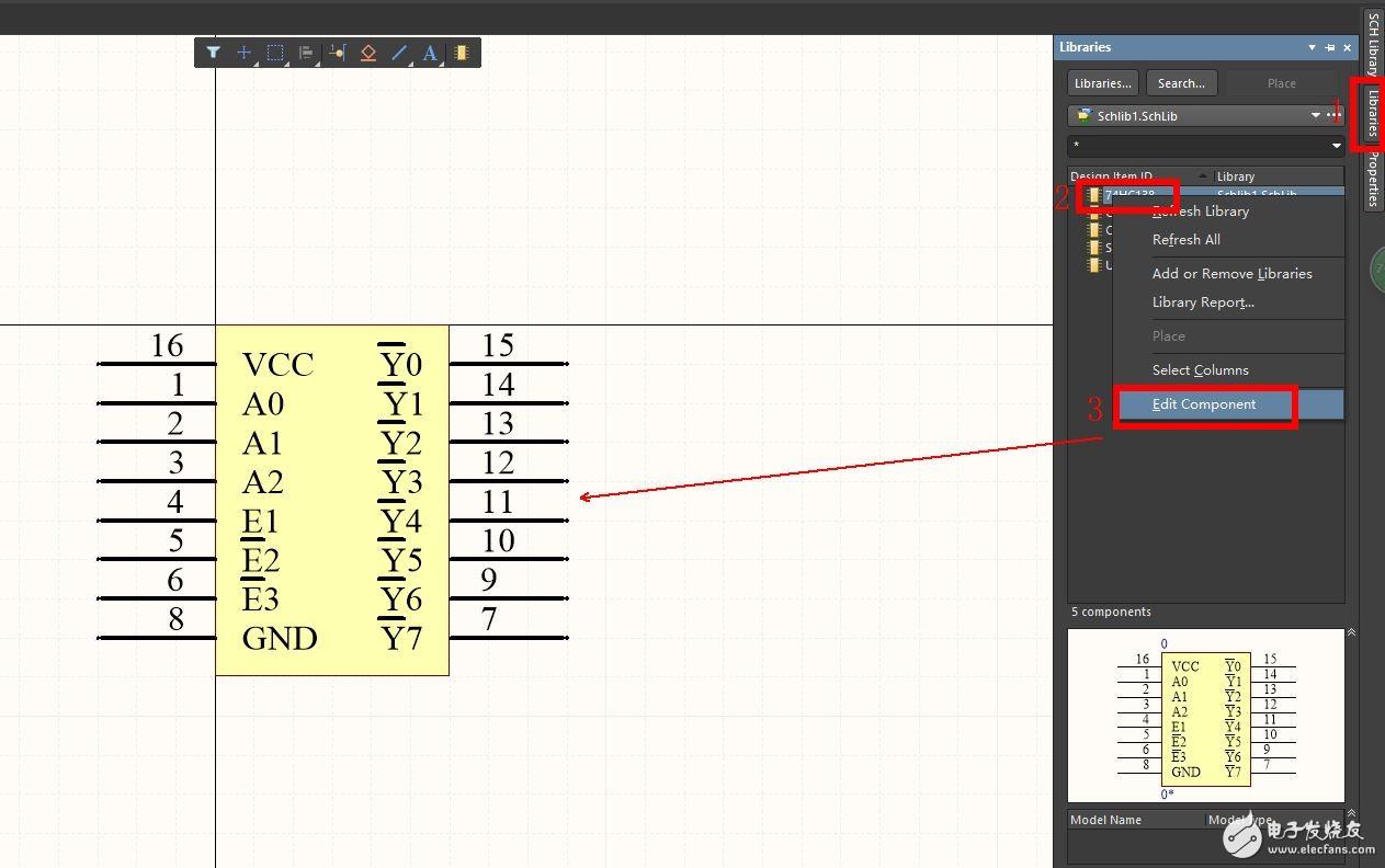 AltiumDesigner原理图库修改操作流程