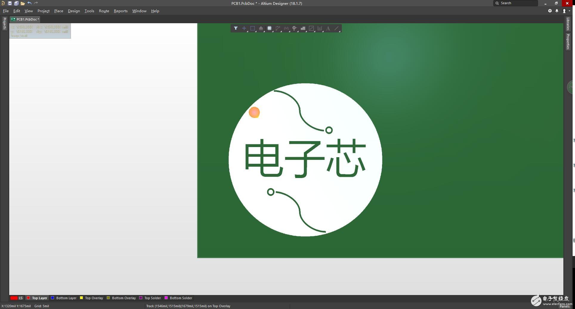 PCB导入添加Logo图标