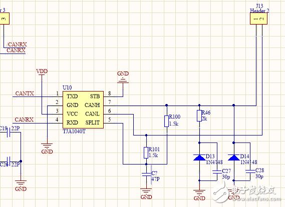 我用PIC18F458参照例程编了个CAN通讯的程序,用CAN-tool未能收到数据。求大神搭救