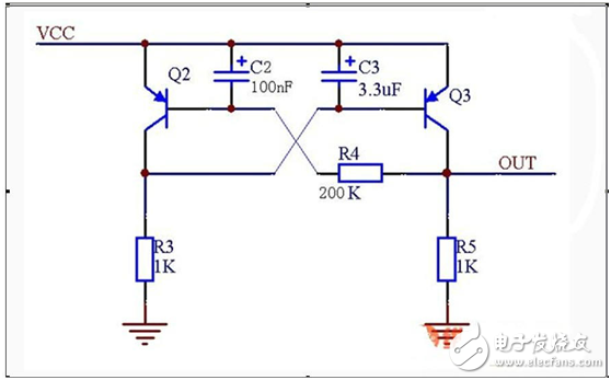 电机短路保护电路的三极管详解
