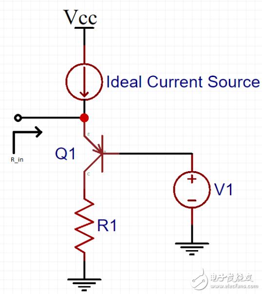 如何求出此PNP电路的输入电阻?