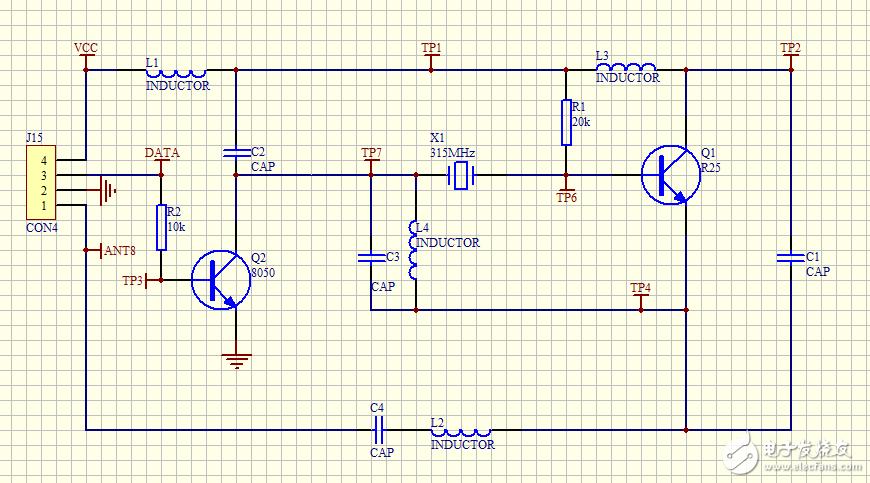 大家好,在开发315M无线模块过程中请问有哪位前辈知道这些电感电容参数?