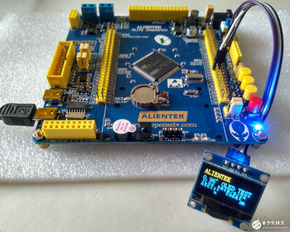 【精英STM32F103開發板試用體驗】+OLED屏顯示功能的實現