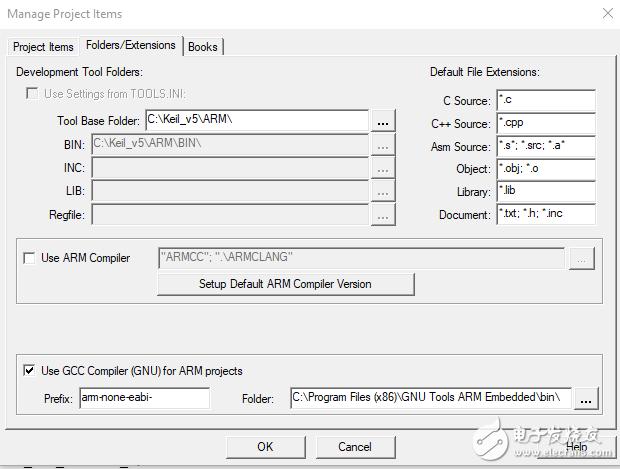 从Keil uVision执行arm-none-eabi-gcc.exe时导致错误的原因是什么?
