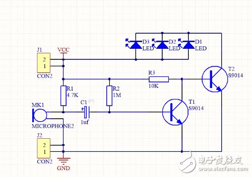 请问这个电路图中两个三极管的作用