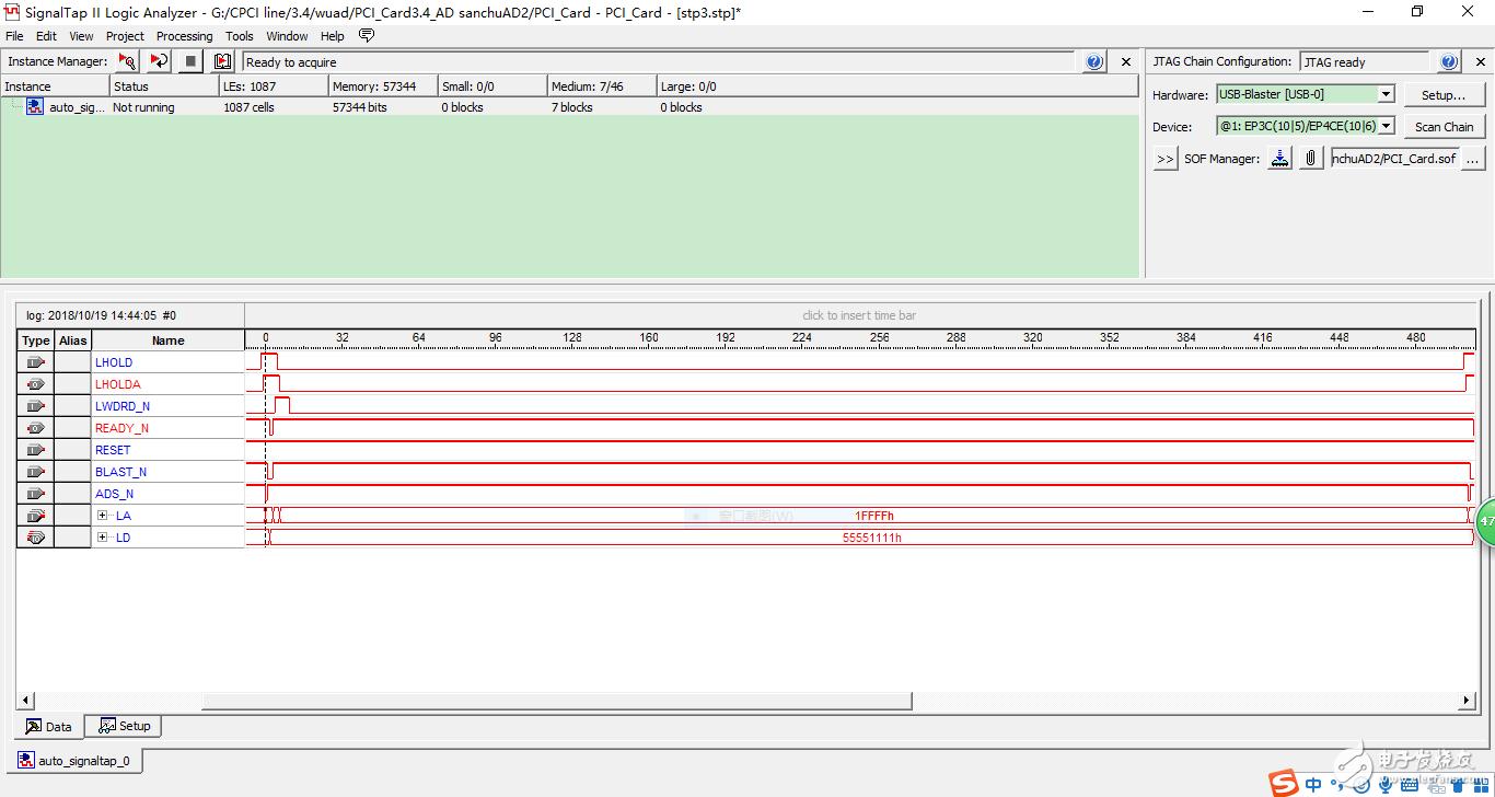 FPGA+PCI9054数据采集速度很慢