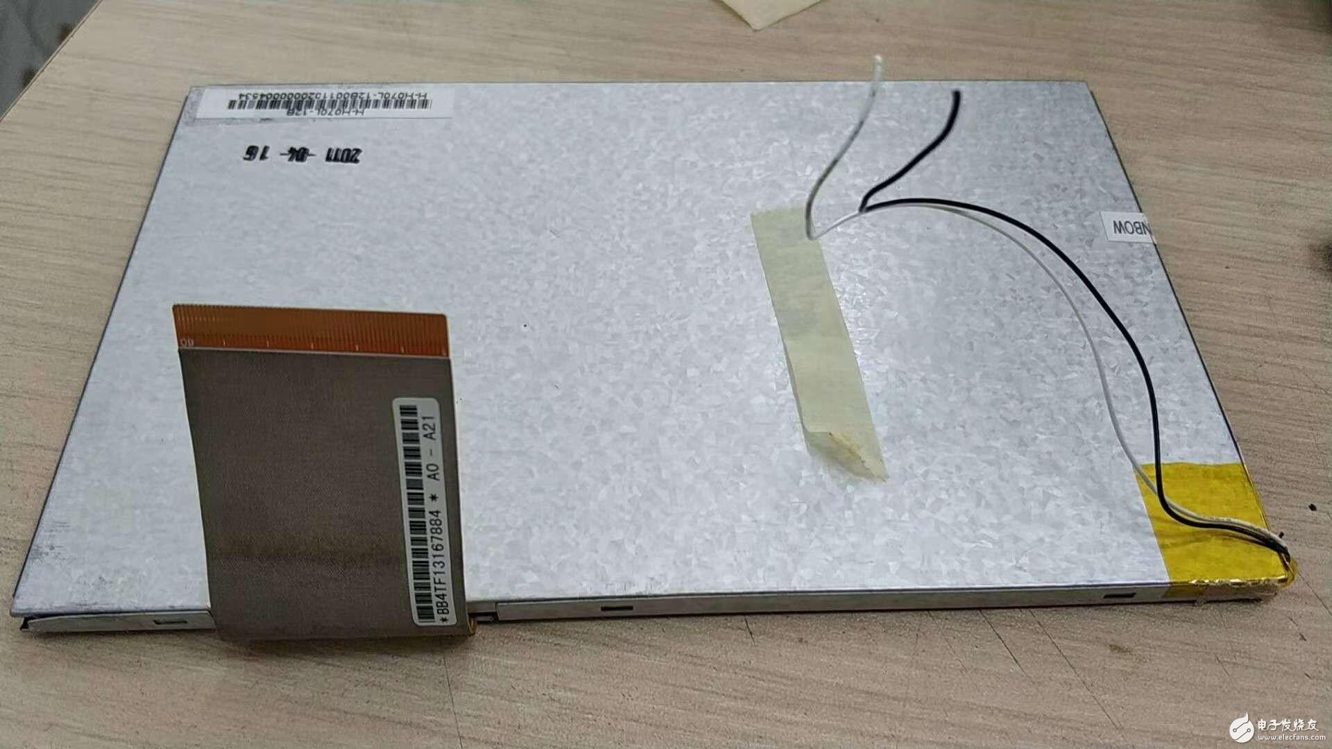 拆了个触摸屏的导航仪屏,想咨询如何连接HDMI接口