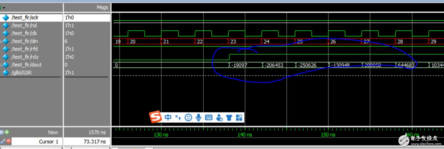 关于xilinx中fir滤波器IP核使用