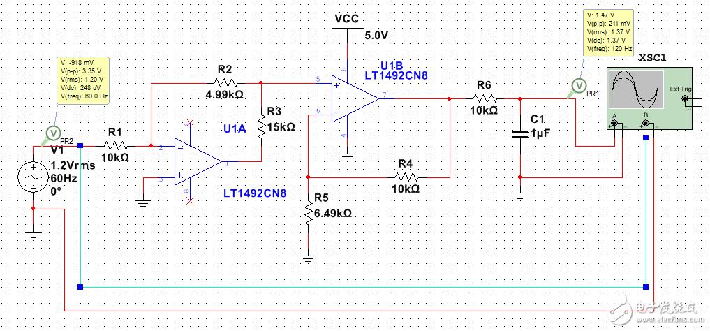请问能帮忙分析一下这个精密整流电路吗